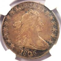 1806 DRAPED BUST HALF DOLLAR 50C COIN O-109A - NGC EXTRA FINE 40 EF40 - $2,000 VALUE