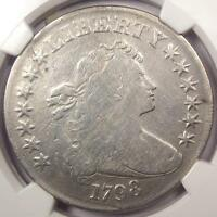 1798 DRAPED BUST SILVER DOLLAR $1 B-29 BB-119 - NGC FINE DETAILS -  COIN