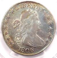 1806 DRAPED BUST HALF DOLLAR 50C COIN - PCGS EXTRA FINE  DETAIL -  LUSTER - LOOKS AU