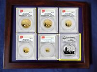 2011 CHINA GOLD PANDA 6 COINS COMPLETE SET PCGS MS 70 FIRST