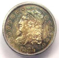 1835 CAPPED BUST HALF DIME H10C COIN - CERTIFIED ICG MINT STATE 63 BU UNC - $942 VALUE