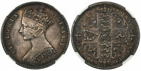 BRITAIN VICTORIA. 1849 AR GODLESS FLORIN TWO SHILLINGS. NGC MS62. KM 745