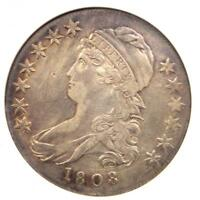 1808 CAPPED BUST HALF DOLLAR 50C - ANACS EXTRA FINE 45 DETAIL EF45 -  COIN