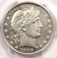 1908-O BARBER HALF DOLLAR 50C - PCGS AU DETAILS -  DATE - CERTIFIED COIN