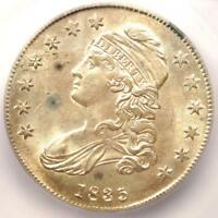 1835 CAPPED BUST HALF DOLLAR 50C COIN - CERTIFIED ICG MINT STATE 63 BU - $1,880 VALUE