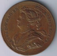 1703 ENGLAND CITIES CAPTURED BY THE DUKE MARLBOROUGH. BY CROKER TOKEN MEDAL