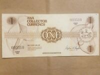1988 ANA COLLECTOR CURRENCY $1 ONE DOLLAR NOTE CONVENTION BILL EXTRA FINE