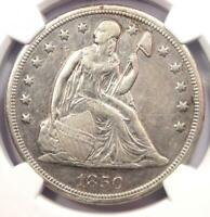 1850-O SEATED LIBERTY SILVER DOLLAR $1 - NGC AU DETAILS -  EARLY DATE COIN