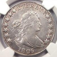 1806 DRAPED BUST HALF DOLLAR 50C - NGC VF DETAIL -  CERTIFIED COIN - NEAR EXTRA FINE