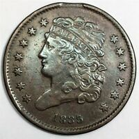 1835 CLASSIC HEAD HALF CENT BEAUTIFUL HIGH GRADE COIN RARE D