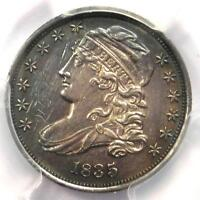 1835 CAPPED BUST DIME 10C - PCGS AU DETAILS -  EARLY DATE - CERTIFIED COIN