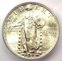 1928 STANDING LIBERTY QUARTER 25C COIN - CERTIFIED ICG MINT STATE 66 - $790 VALUE