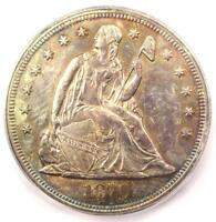 1870 SEATED LIBERTY SILVER DOLLAR $1 - CERTIFIED ICG MINT STATE 64 UNC - $7,810 VALUE