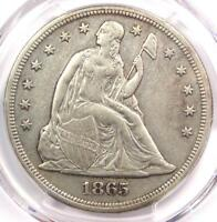 1865 SEATED LIBERTY SILVER DOLLAR $1 - PCGS EXTRA FINE  DETAILS -  CIVIL WAR DATE