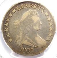 1807 DRAPED BUST HALF DOLLAR 50C COIN - CERTIFIED PCGS F15 - $600 VALUE