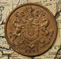 1841 NEWFOUNDLAND ST. JOHN'S RUTHERFORD TOKEN   HIGH GRADE DETAIL & CONDITION