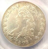 1808 CAPPED BUST HALF DOLLAR 50C COIN O-109A - ANACS EXTRA FINE 40 DETAILS -  DATE