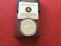 2010 $20 SILVER COIN- HOLIDAY PINE CONES  MOONLIGHT