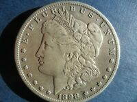 1898-S MORGAN SILVER DOLLAR VAM-10 SHARPLY TILTED MINTMARK - 'VF' - CLEANED