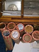 HUGE  SILVER COIN INDIAN WHEAT MORGAN ROLLS ALL COINS INCLUD