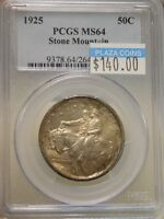 1925 STONE MOUNTAIN HALF DOLLAR COMMEMORATIVE GRADED MINT STATE 64 BY PCGS