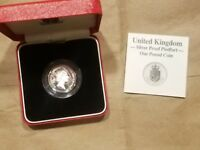 1988 GREAT BRITAIN 1 POUND SILVER PROOF PIEDFORT COIN UNITED KINGDOM UK UNC NICE