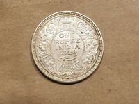 1920 INDIA 1 RUPEE BRITISH COLONIAL INDIAN RAJ SILVER COIN UNCIRCULATED UNC MS