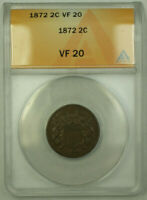 1872 TWO CENT 2C PIECE COIN ANACS VF-20 RJS