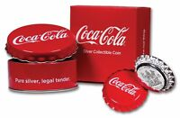2018 FIJI COCA COLA BOTTLE CAP SHAPED $1 ONE DOLLAR SILVER P