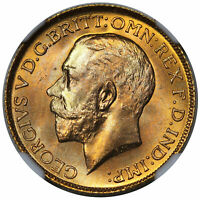 1925 GREAT BRITAIN GOLD SOVEREIGN GEORGE V S 3996 NGC MS66 P