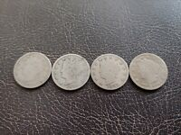LOT OF LIBERTY HEAD NICKELS 1895, 96, 97 AND 1898