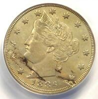 1886 LIBERTY NICKEL 5C - ANACS AU50 DETAILS -  KEY DATE CERTIFIED COIN