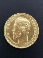 1901 GOLD RUSSIA 5 ROUBLES 4.30 GRAMS COIN.