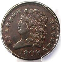 1809/6 CLASSIC HEAD HALF CENT - PCGS AU DETAILS -  OVERDATE CERTIFIED COIN