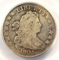 1805 DRAPED BUST DIME 10C - CERTIFIED ANACS F12 DETAILS -  COIN