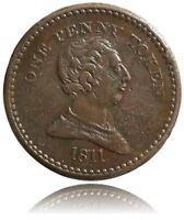 GREAT BRITAIN 1811 PENNY TOKEN BRISTOL CIVITAS W 416 NICE COLLECTIBLE