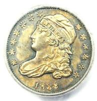 1832 CAPPED BUST  DIME 10C COIN - CERTIFIED ICG MINT STATE 63 BU UNC - $1,400 VALUE