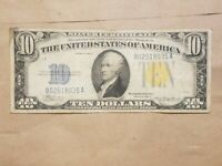 1934 A NORTH AFRICA $10 SILVER CERTIFICATE WW2 WWII RELIC FR 2309 FINE VF