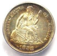 1888 PROOF SEATED LIBERTY DIME 10C COIN. CERTIFIED ICG PR66 PF66 - $1560 VALUE