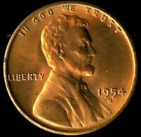 LINCOLN CENT 1954-S CERTIFICATION QUALITY? SOME OF THE BEST ON EBAY  1350