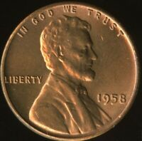 LINCOLN CENT 1958-P  CERTIFICATION QUALITY? SOME OF THE BEST ON EBAY  1359