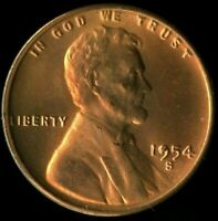 LINCOLN CENT 1954-S CERTIFICATION QUALITY? SOME OF THE BEST ON EBAY  1380