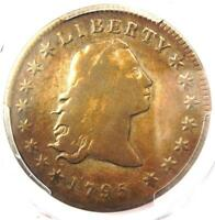 1795 FLOWING HAIR SILVER DOLLAR $1 COIN - PCGS VF DETAILS -  COIN