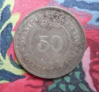STRAITS SETTLEMENTS   FIFTY CENTS 1897 COIN.
