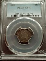 1835 PCGS EXTRA FINE 40 CAPPED BUST DIME