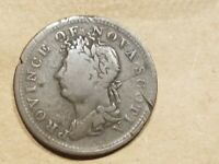 1823 PROVINCE OF NOVA SCOTIA 1/2 PENNY HALF PENCE CANADIAN COLONIAL COIN DETAILS