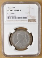 1823 CAPPED BUST HALF DOLLAR NGC GOOD DETAILS