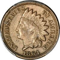 1864 1C COPPER-NICKEL INDIAN CENT PCGS EXTRA FINE 45 PHOTO SEAL