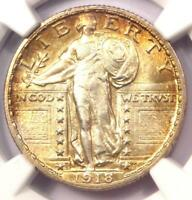 1918-S STANDING LIBERTY QUARTER 25C COIN - NGC UNCIRCULATED DETAILS UNC MS