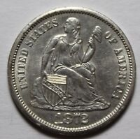 1872-S SEATED LIBERTY DIME HIGH GRADE S44